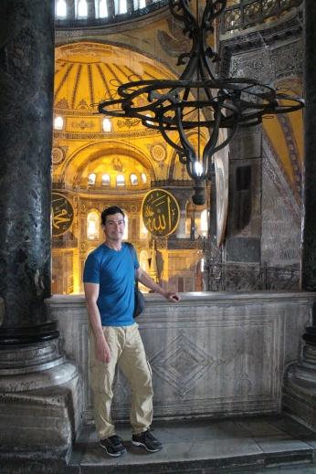Bruce at the Hagia Sophia, Pictures can't really capture the shear majesty of this building that's spanned centuries.