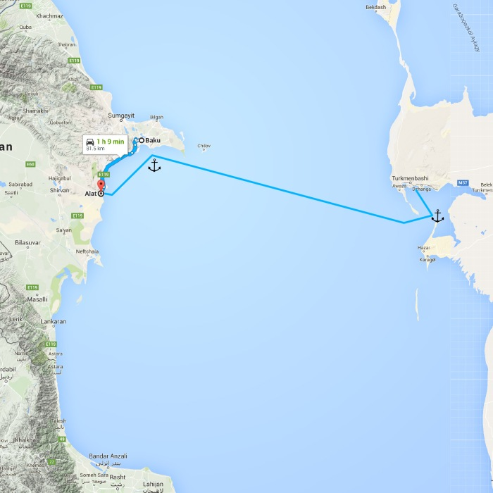 Baku, Azerbaijan to Alat, Azerbaijan - Google Maps